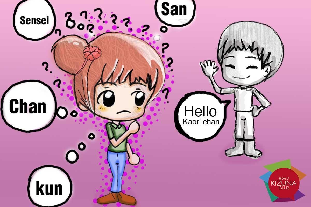 Honoríficos en los nombres japoneses