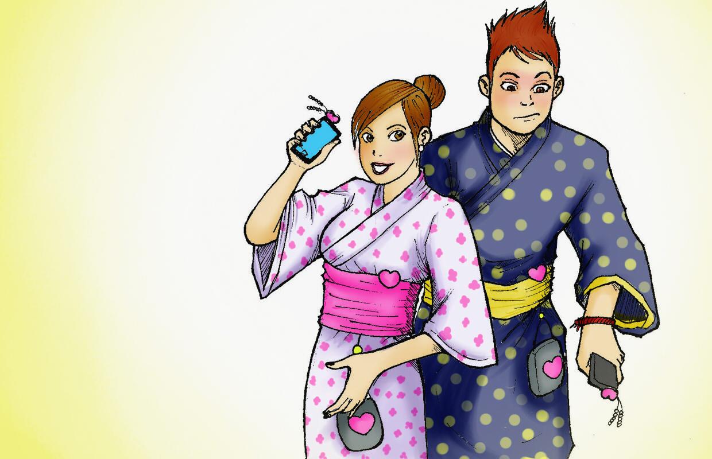 ¿Por qué los japoneses aman los colgantes para celular?